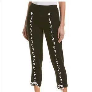LnA piper Pant Black with white lace. Size Med.